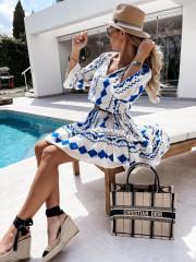 nihaostyle clothing wholesale fashion digital printing stitching dress NSOUY66548