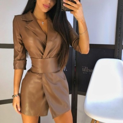 Nihaostyle Clothing Wholesale Autumn And Winter New Collar Long Sleeve Dress NSHML66633