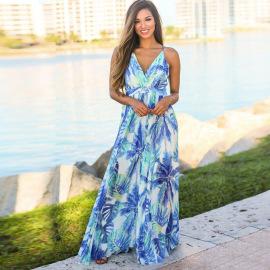 Nihaostyle Clothing Wholesale New Women's Fashion V-neck Suspender Dress NSHYG66685