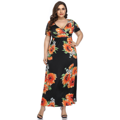 Nihaostyle Clothing Wholesale Summer Sexy Floral Dress NSHYG66715