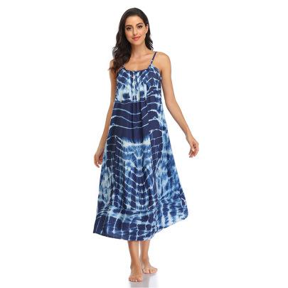 Nihaostyle Clothing Wholesale Summer New Style Sling Floral Long Skirt Dress NSHYG66716