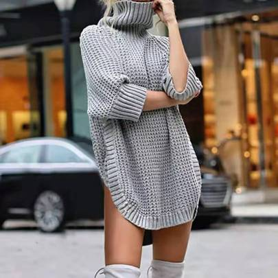 Wholesale Clothing Vendors Nihaostyles Solid Color Knitted Pullover Half-sleeved Sweater  NSBY66762