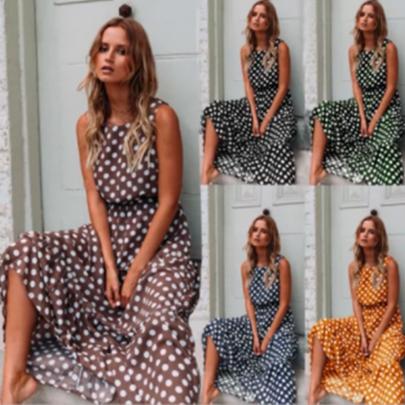 Wholesale Clothing Vendors Nihaostyles Polka Dot Vest Dress NSOUY66803