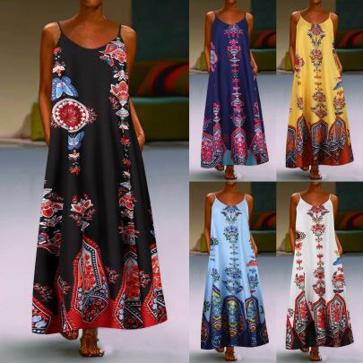 Nihaostyle Clothing Wholesale Sleeveless Printed Dress NSYIC66819