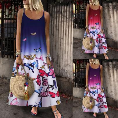 Nihaostyle Clothing Wholesale Sleeveless Printed Dress NSYIC66820