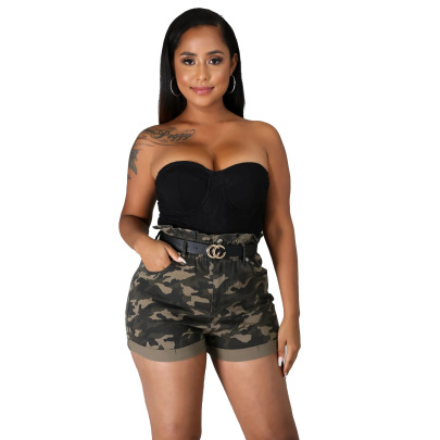 Nihaostyle Clothing Wholesale Fashion Self-cultivation Stretch Denim Shorts NSSF66901