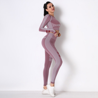 Nihaostyle Clothing Wholesale Sports Tight-fitting Running Breathable Set NSNS66943