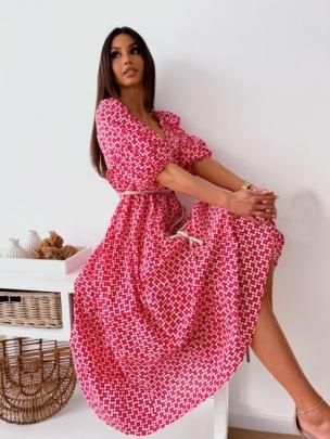 Nihaostyle Clothing Wholesale Printed V-neck Ruffled Loose Dress NSOUY67037