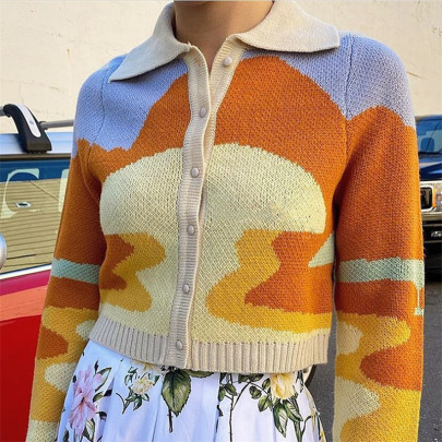 Nihaostyle Clothing Wholesale Embroidery Button Short Cardigan NSSX66957