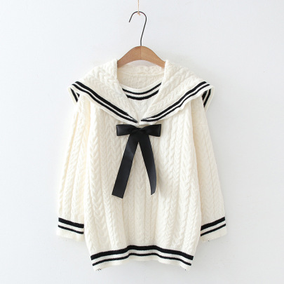 Nihaostyle Clothing Wholesale Autumn And Winter New Hit Color Long-sleeved Knitted Pullover NSSX66976