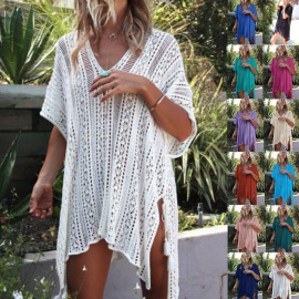 Nihaostyle Clothing Wholesale Summer Loose Knitted Beach Dress NSSX66977