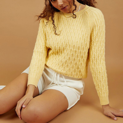 Nihaostyle Clothing Wholesale New Retro Loose Round Neck Long-sleeved Knitted Pullover NSSX66991
