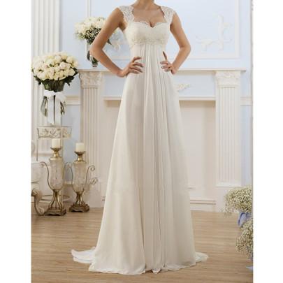 Wholesale Women's Clothing Nihaostyles Lace Stitching Grounding Dress NSYSM67001