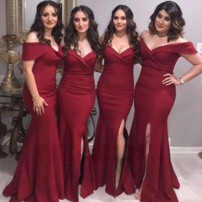 Wholesale Women's Clothing Nihaostyles V-neck Split Dress Banquet Evening Dress NSYSM67015