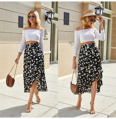 Wholesale Clothing Vendors Nihaostyles Printed Holiday Beach Skirt NSOUY67075