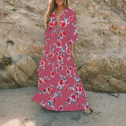 Women's Printing Waist Dress Nihaostyles Clothing Wholesale NSZH72774