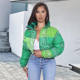 Women's Cashew Flower Cotton Jacket Nihaostyles Clothing Wholesale NSGLS72793