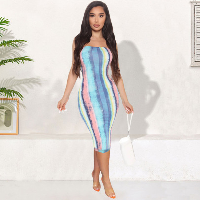 Women's Tube Top Dress Nihaostyles Clothing Wholesale NSGLS72826