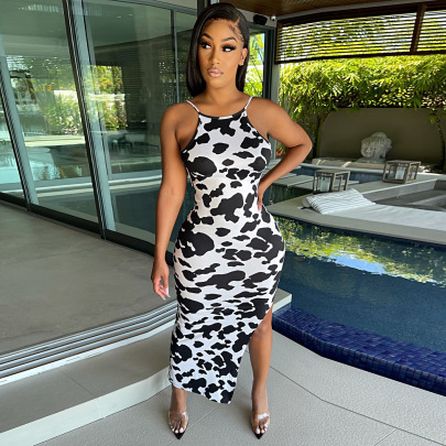 Women's Printing Suspender Dress Nihaostyles Clothing Wholesale NSGLS72830