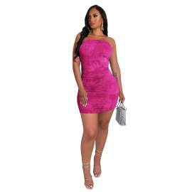Women's Casual Pleated Dress Nihaostyles Clothing Wholesale NSGLS72849