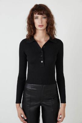 Women's Rib Knit Top Nihaostyles Clothing Wholesale NSOUY73004