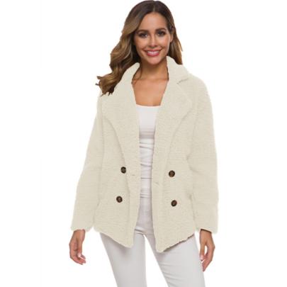 Pure Color Lamb Wool Coat Nihaostyles Wholesale Clothing Vendor NSXIA74966
