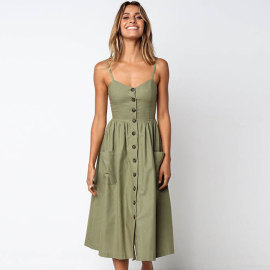 Women's Solid Color Casual Dress Nihaostyles Clothing Wholesale NSXIA73793