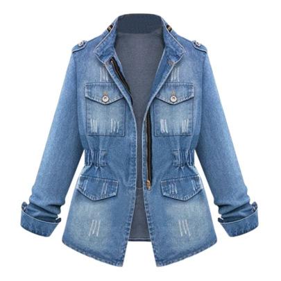 Fall New Slim Denim Jacket Nihaostyles Wholesale Clothing Vendor NSJC73190
