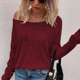 Slanted Shoulder Knitwear Nihaostyles Wholesale Clothing Vendor NSOUY74962