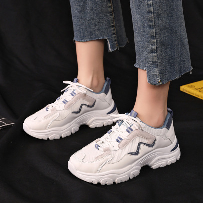 Color Matching Breathable Sports Shoes Nihaostyles Wholesale Clothing Vendor NSCF73031