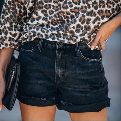 Fashion Ripped Raw Denim Shorts Nihaostyles Wholesale Clothing Vendor NSYF73035