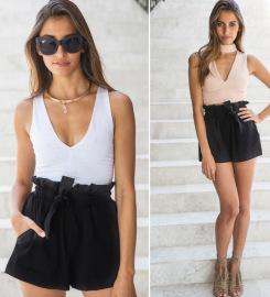 Elastic Wide-leg High-waist Casual Shorts Nihaostyles Wholesale Clothing Vendor NSXPF73106