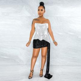 Fashion Diamond Evening Dress Nihaostyles Wholesale Clothing Vendor NSCYF73117