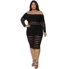 Plus Size Solid Color Dress Nihaostyles Wholesale Clothing Vendor NSCYF73134