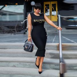 Sleeveless Slim Fit Dress Nihaostyles Wholesale Clothing Vendor NSCYF73139
