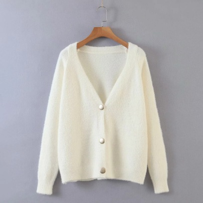 Women's Long-sleeved Single-breasted Knit Cardigan Nihaostyles Clothing Wholesale NSSX73213