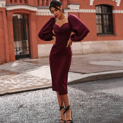 Women's Long-sleeved Backless Slim Dress Nihaostyles Clothing Wholesale NSSX73240
