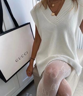 Women's Loose Slit V-neck Sleeveless Knitted Mid-length Vest Nihaostyles Clothing Wholesale NSSX73247