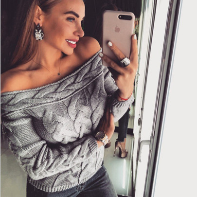 Women's Twist Long-sleeved Knitted Pullover Sweater Nihaostyles Clothing Wholesale NSSX73248