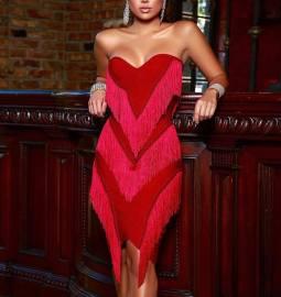 High Elasticity Tassel Dress Nihaostyles Wholesale Clothing Vendor NSCYF73288