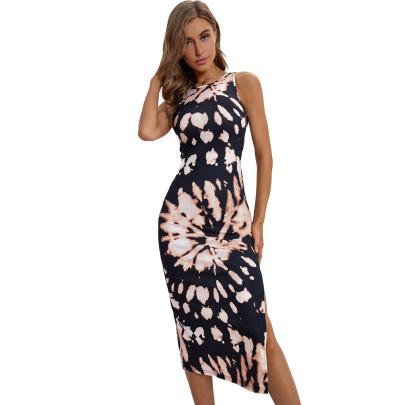 Women's Floral Split Mid-length Dress Nihaostyles Clothing Wholesale NSJM73346