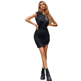Women's Shoulder Pads Waist Slim Dress Nihaostyles Clothing Wholesale NSJM73364