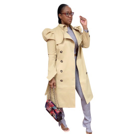 All-match Long Windbreaker Jacket Nihaostyles Wholesale Clothing Vendor NSYDF73390