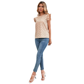 Women's  Ruffled Head Sleeve Shirt Nihaostyles Clothing Wholesale NSJM73525
