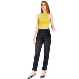 Women's High-waisted Straight-leg Slim Denim Trousers Nihaostyles Clothing Wholesale NSJM73562