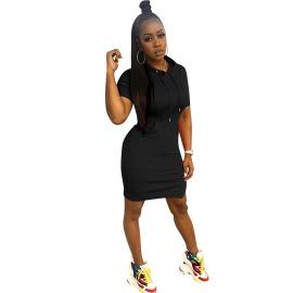 Solid Color Printing Split Dress Nihaostyles Wholesale Clothing Vendor NSYDF73589