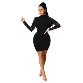 Fashion Sequins Decor Dress Nihaostyles Wholesale Clothing Vendor NSYDF73625