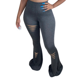 Sexy Tight-fitting Flared Trousers Nihaostyles Wholesale Clothing Vendor NSYDF73634