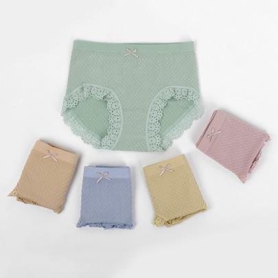 High-waist Lace-side Modal Women's Panties Nihaostyles Clothing Wholesale NSLSD73651