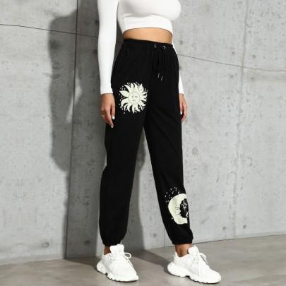 Women's Star And Moon Printing Pants Nihaostyles Clothing Wholesale NSDMB73699